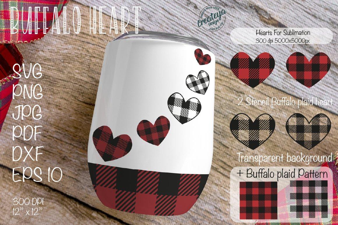 Buffalo Plaid Heart LASER READY SVG