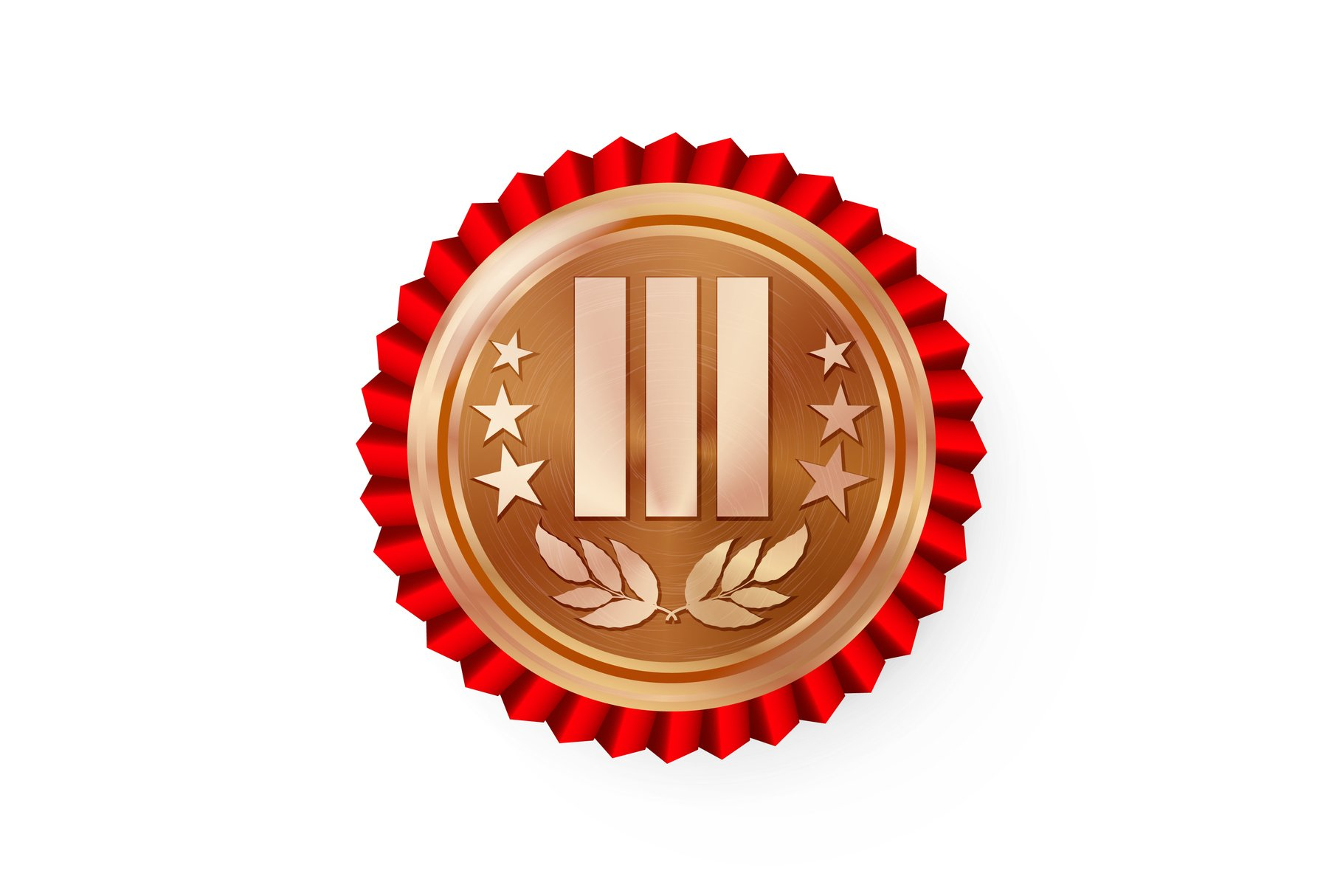 Bronze 3st Place Rosette, Badge example image 1