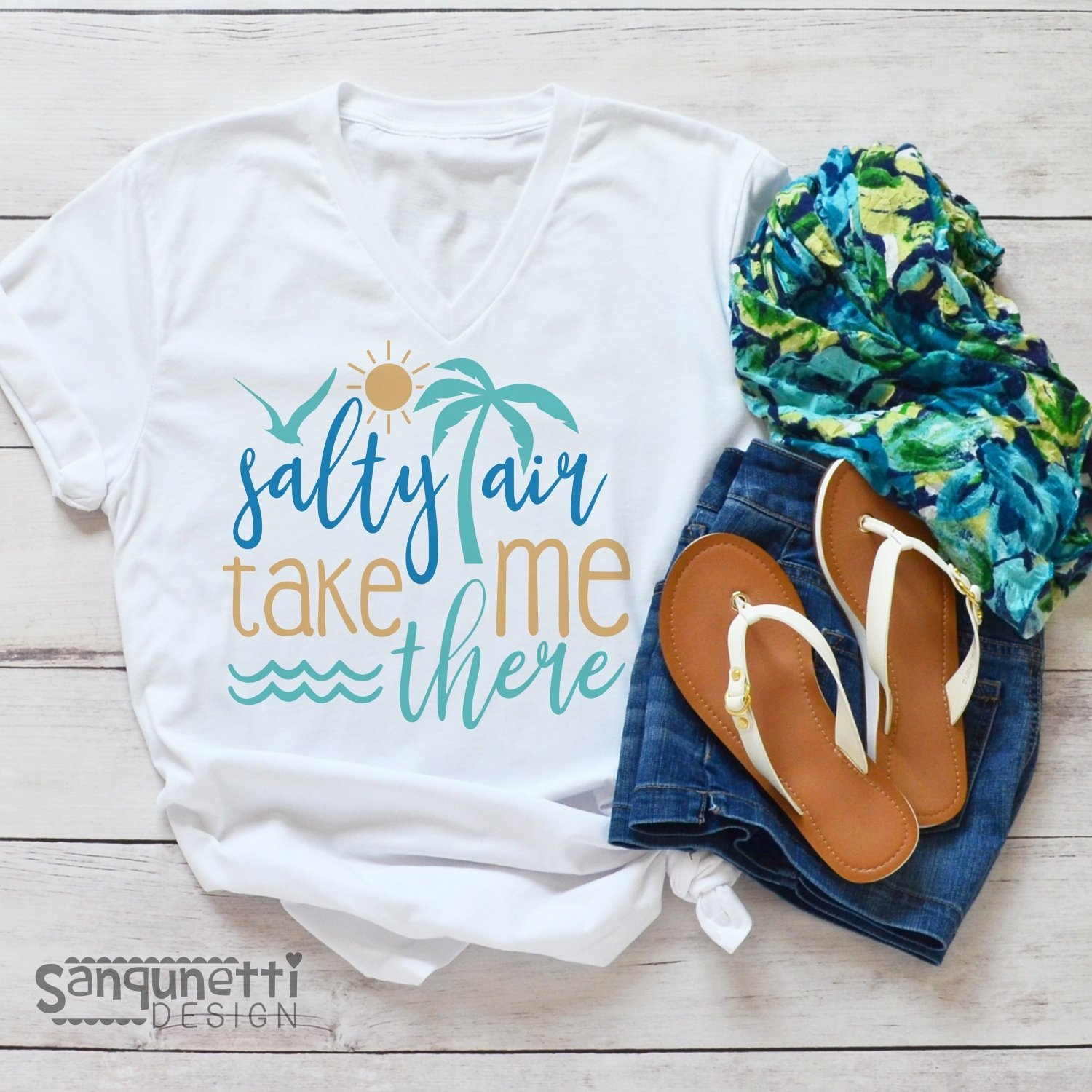 Salty air take me there SVG, beach svg, summer cutting file example image 2
