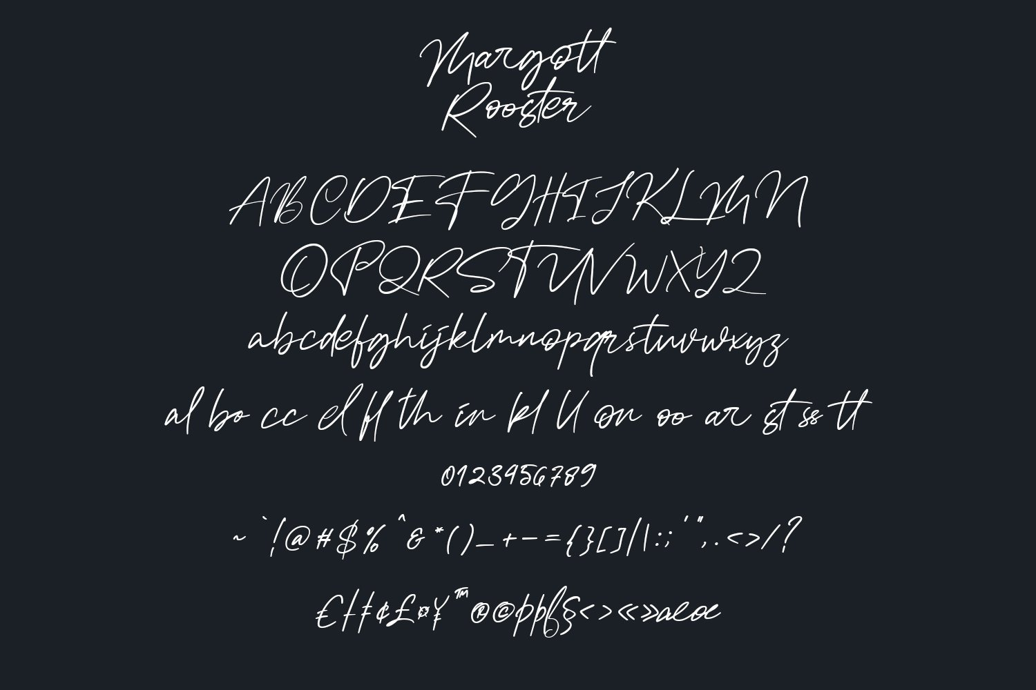 Margott Rooster - Signature Font example image 7
