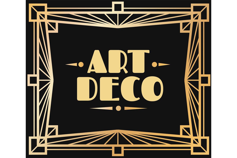 Download Gold Art Deco Frame Border With Graphic 1920s Ornamental De 817117 Illustrations Design Bundles