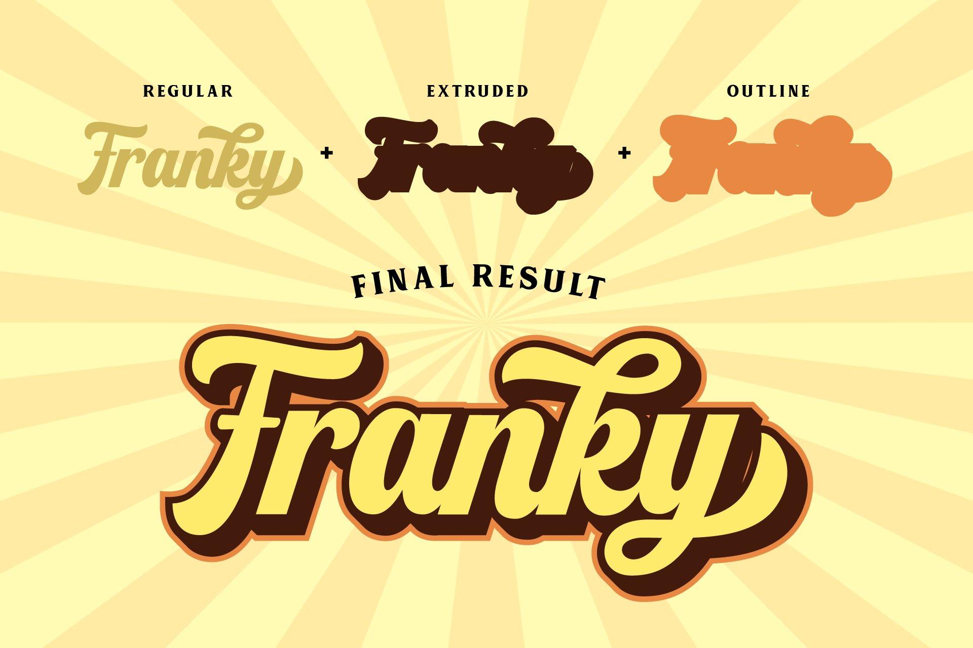 Franky - Retro Font example image 3