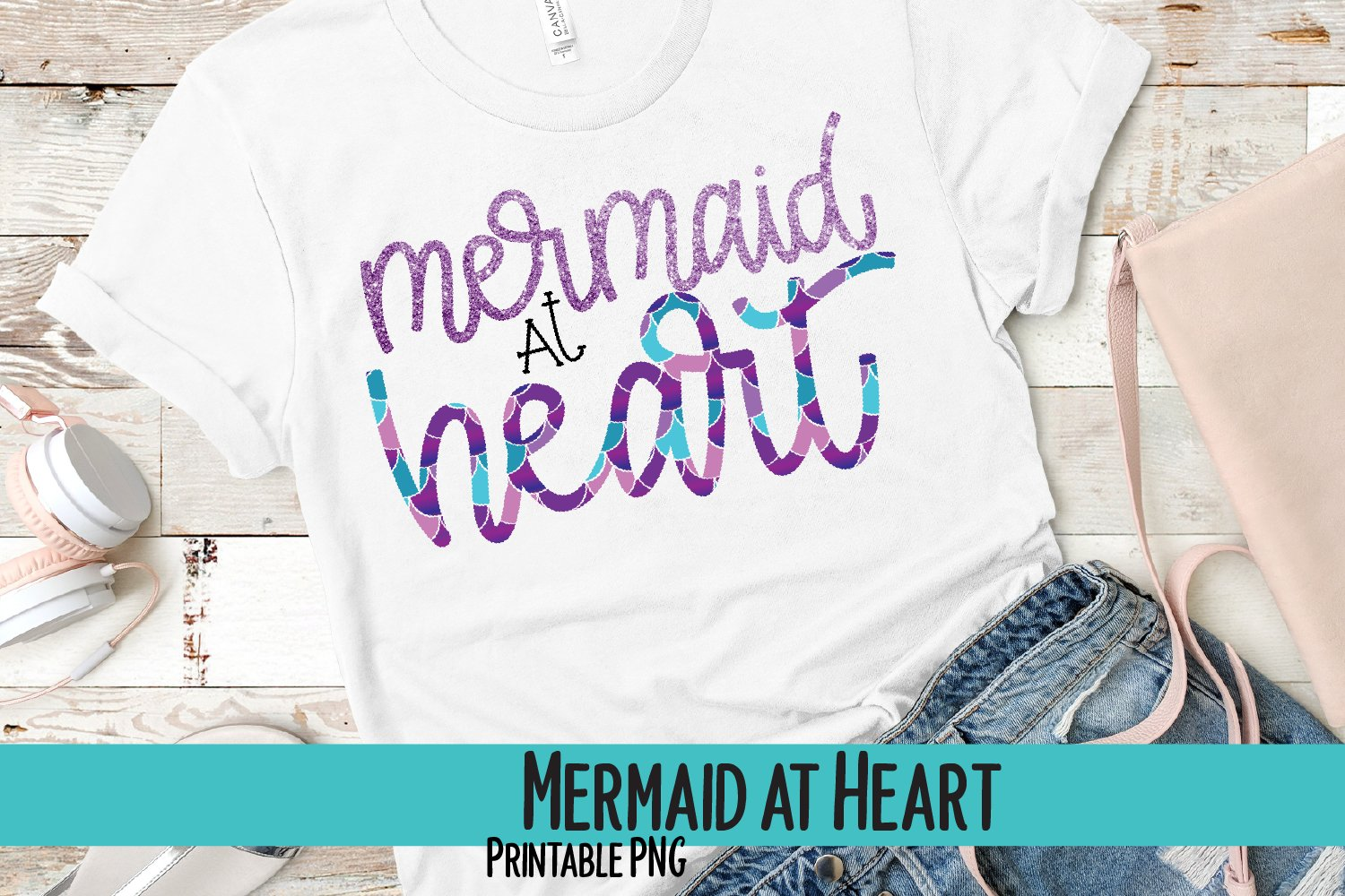 Mermaid at Heart Sublimation PNG example image 1