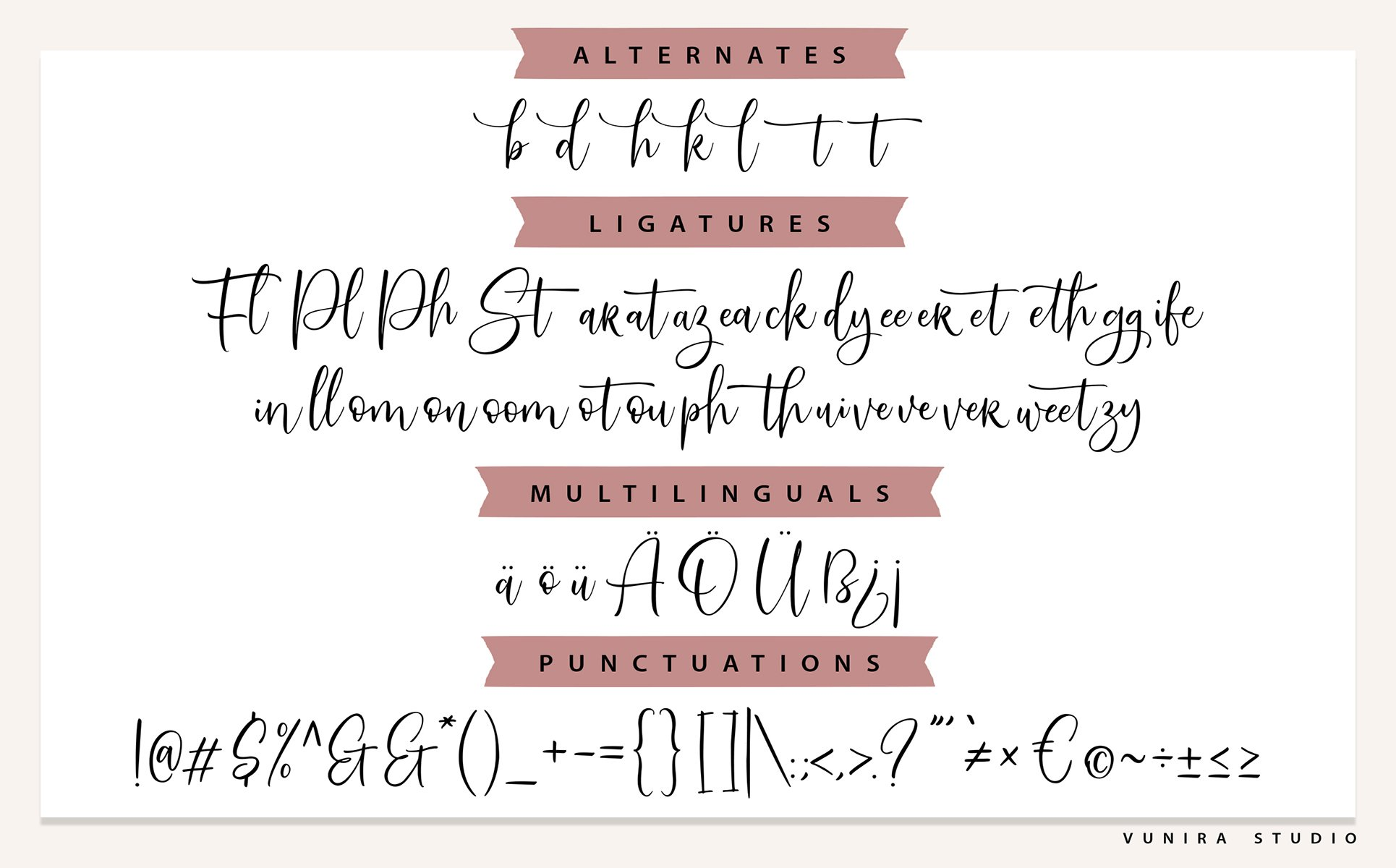 SweetServe   Modern Calligraphy Script Font example image 3