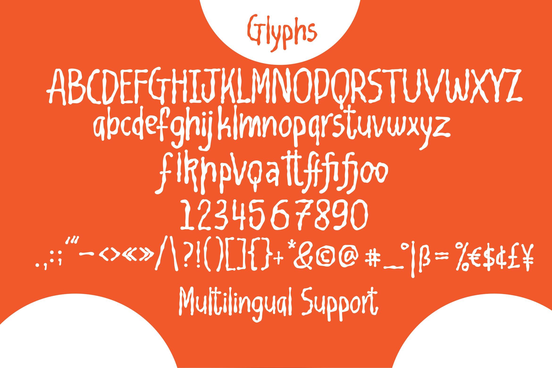 Bloonbark - Blob Fancy Font example image 3