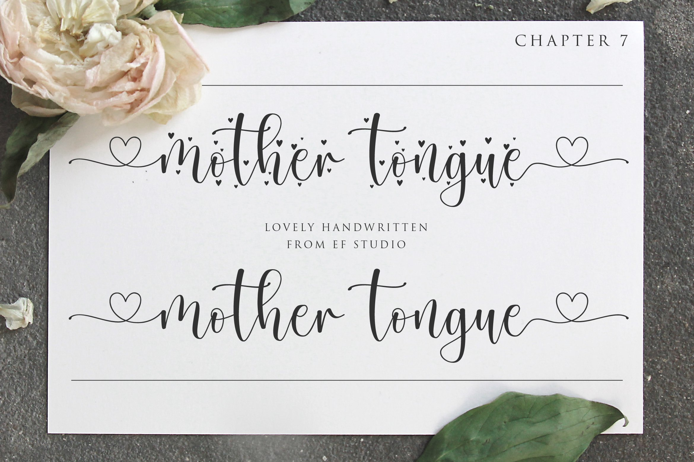 Mother Tongue - 2 Styles Font example image 1