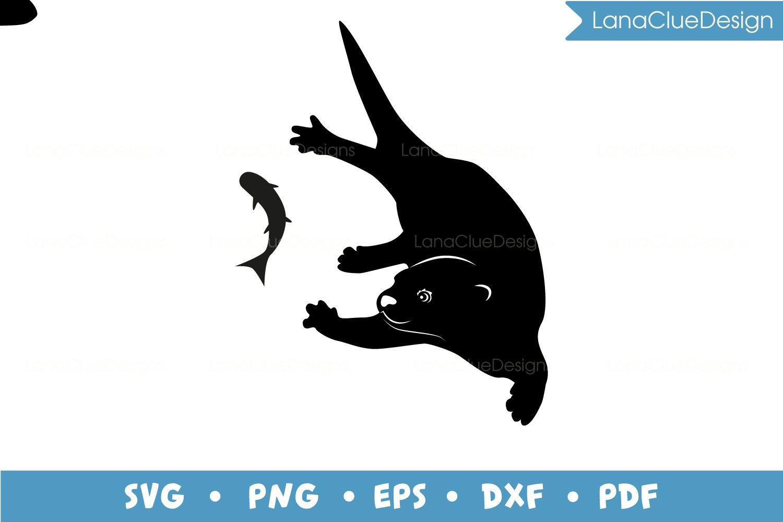 4 Otters SVG Bundle example image 3