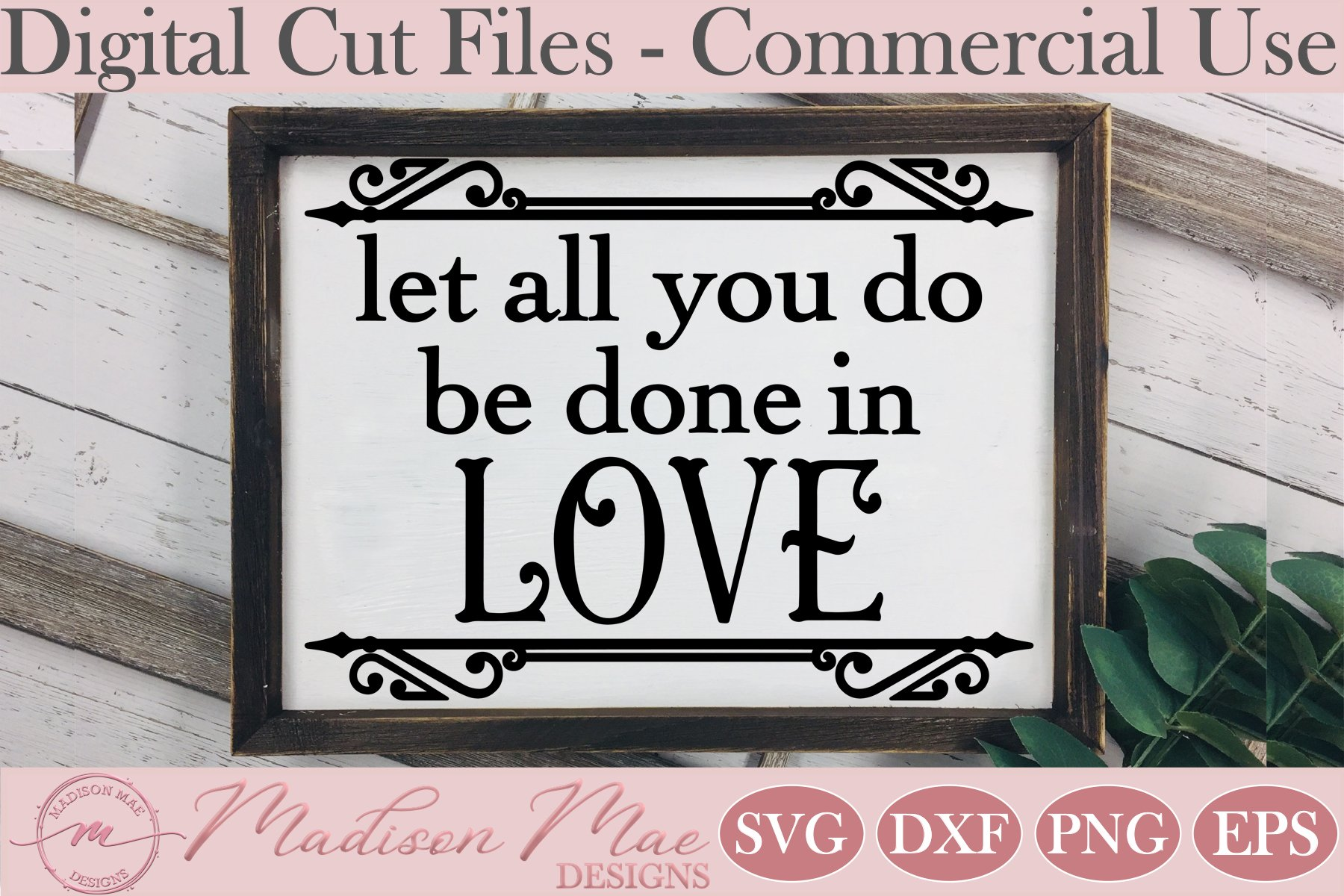 Let All You Do Be Done In Love SVG, Bible Verse SVG example image 1