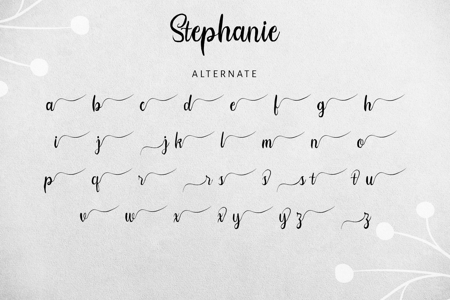 Stephanie Script Font example image 12