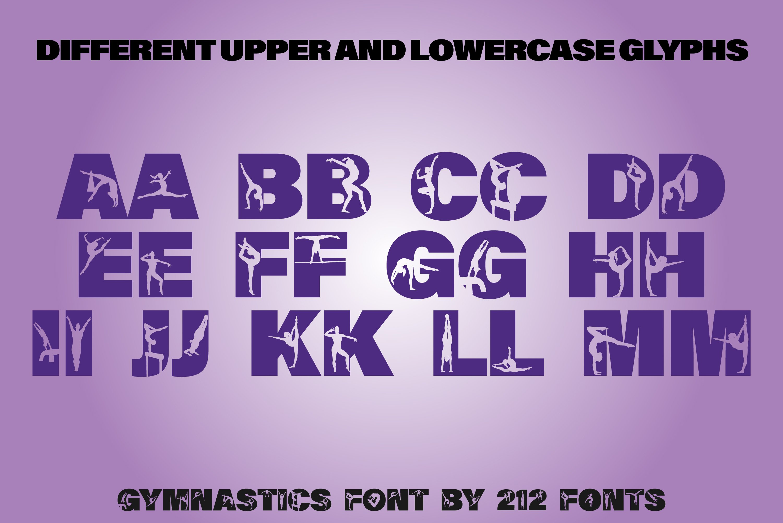 212 Gymnastics Caps Display Font Gymnast Alphabet OTF example image 6