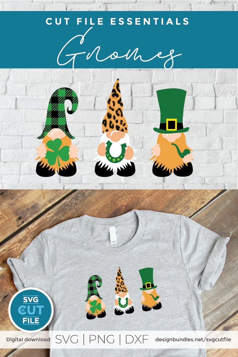 Download St. Patrick's Day svg, Leprechaun Gnomes with Lucky Items ...