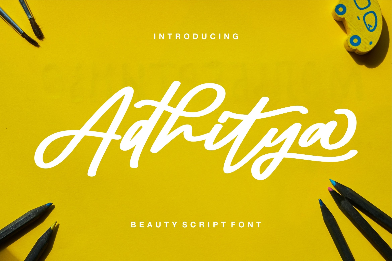 Adhitya - Beauty Script Font example image 1