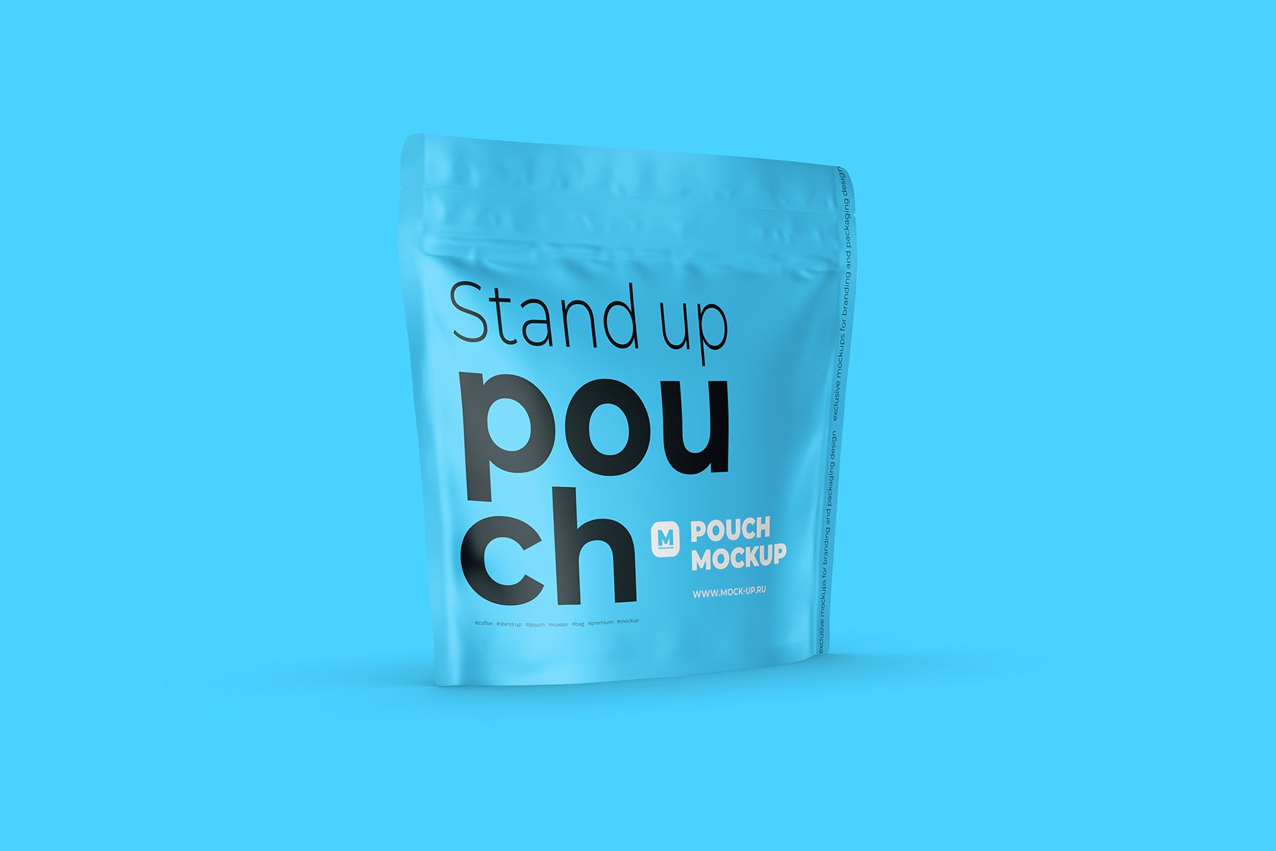Zip Stand-up Pouch Mockup square example image 6