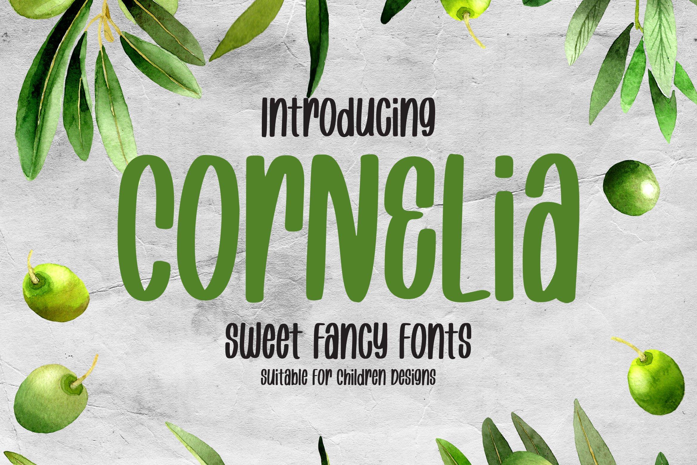 Cornelia - Sweet Fancy Font example image 1