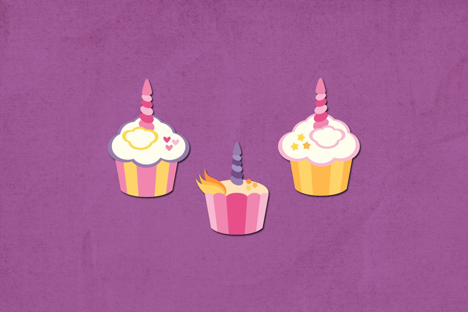Unicorn cupcakes party illustrations example image 3