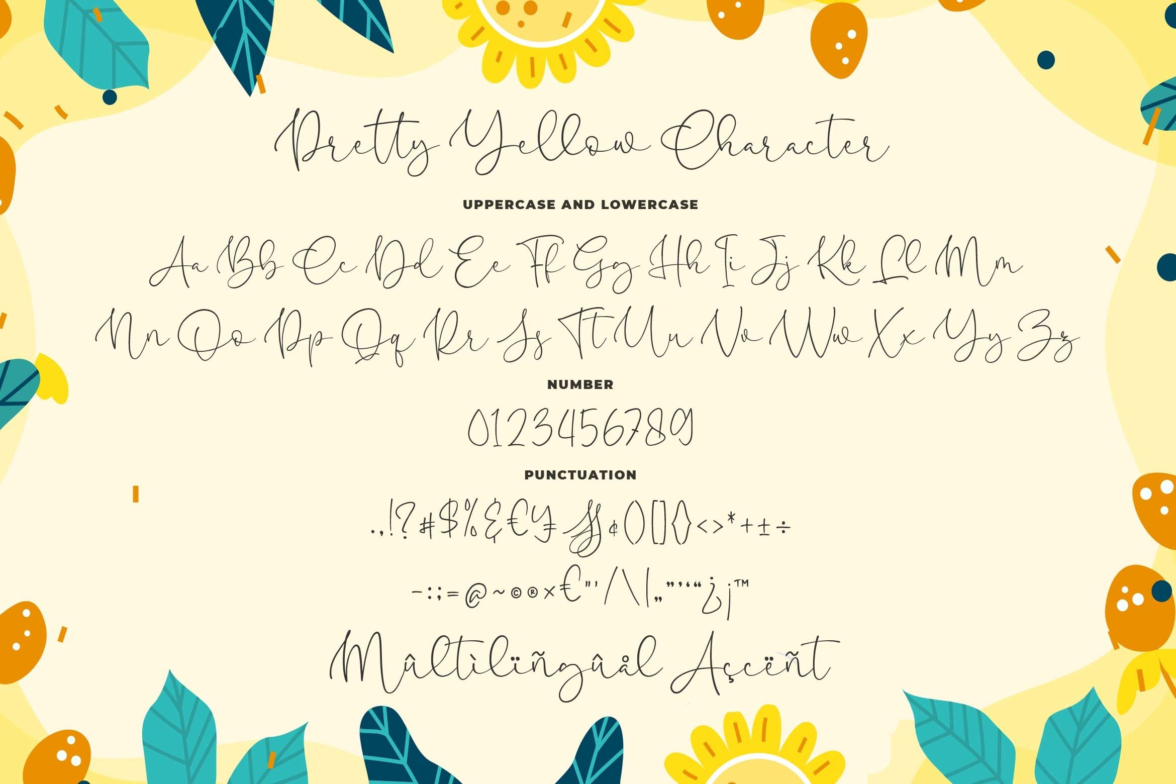 Pretty Yellow Beauty Calligraphy Font example image 7