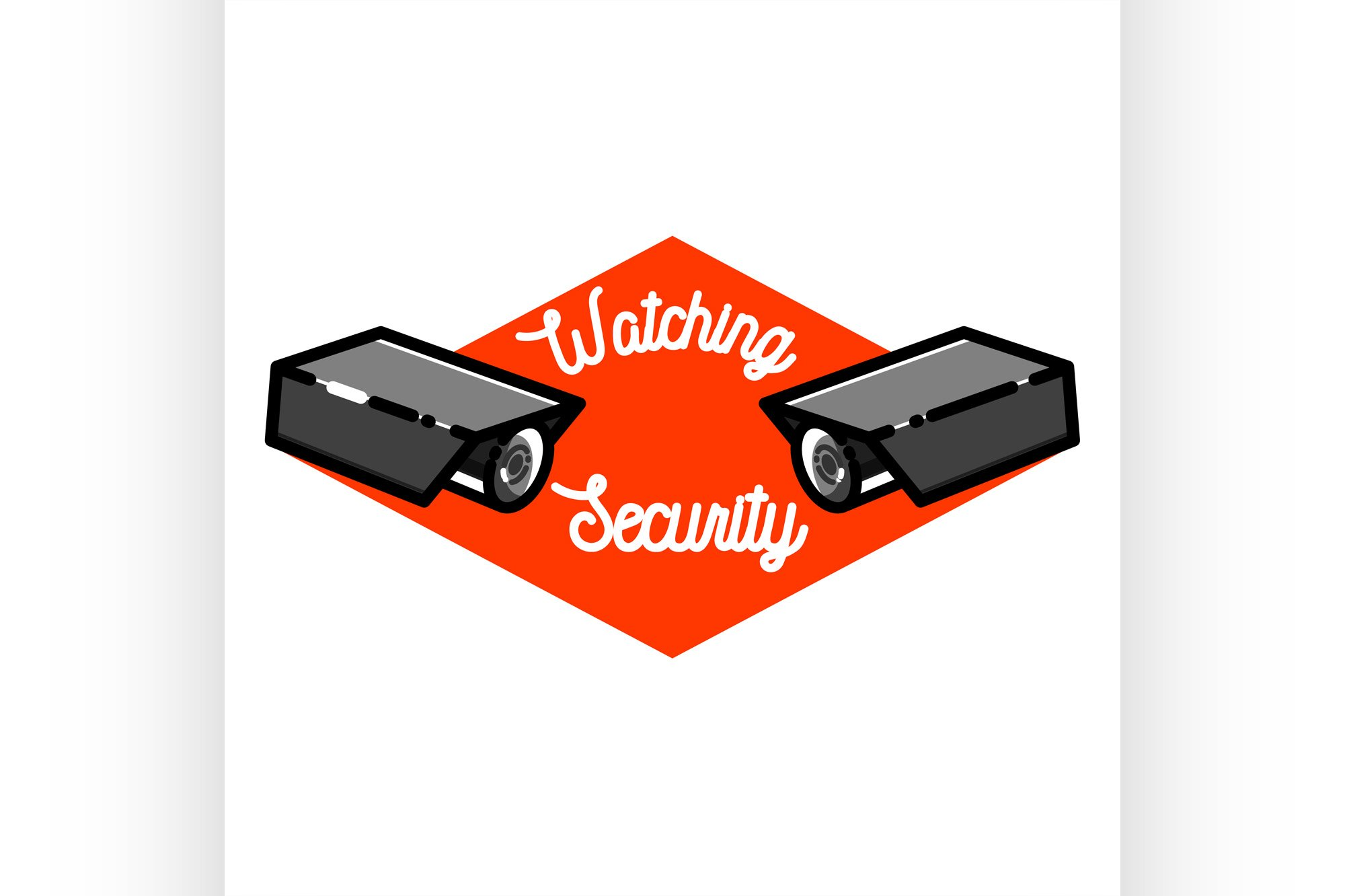 Color vintage security emblem example image 1