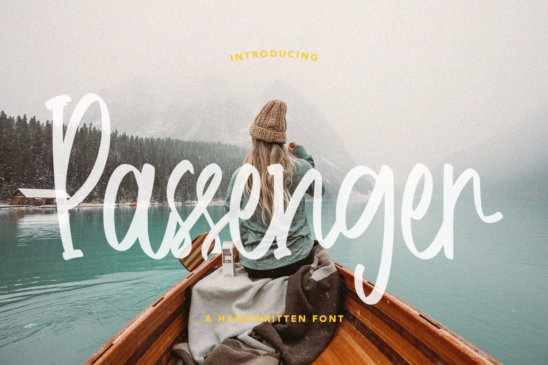 Passenger - Handwritten Font example image 1