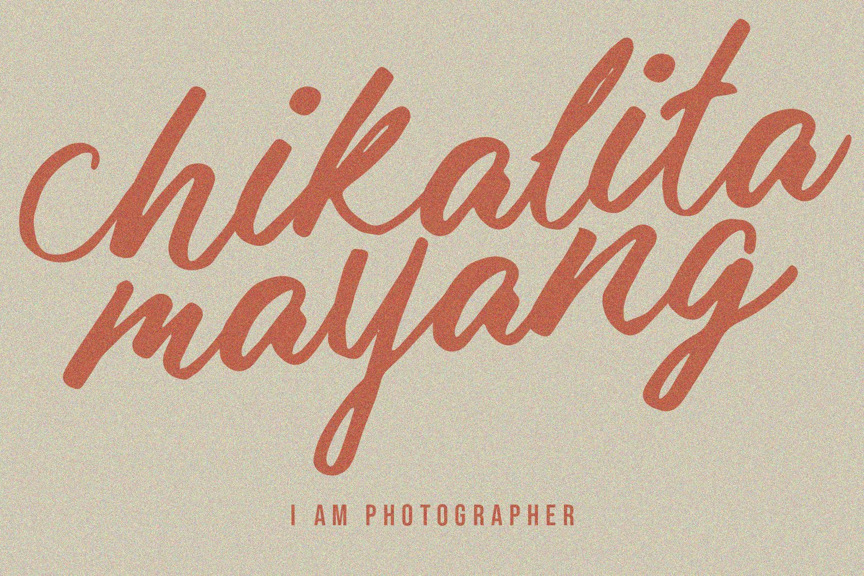 Malika Brush Script Typeface example image 6