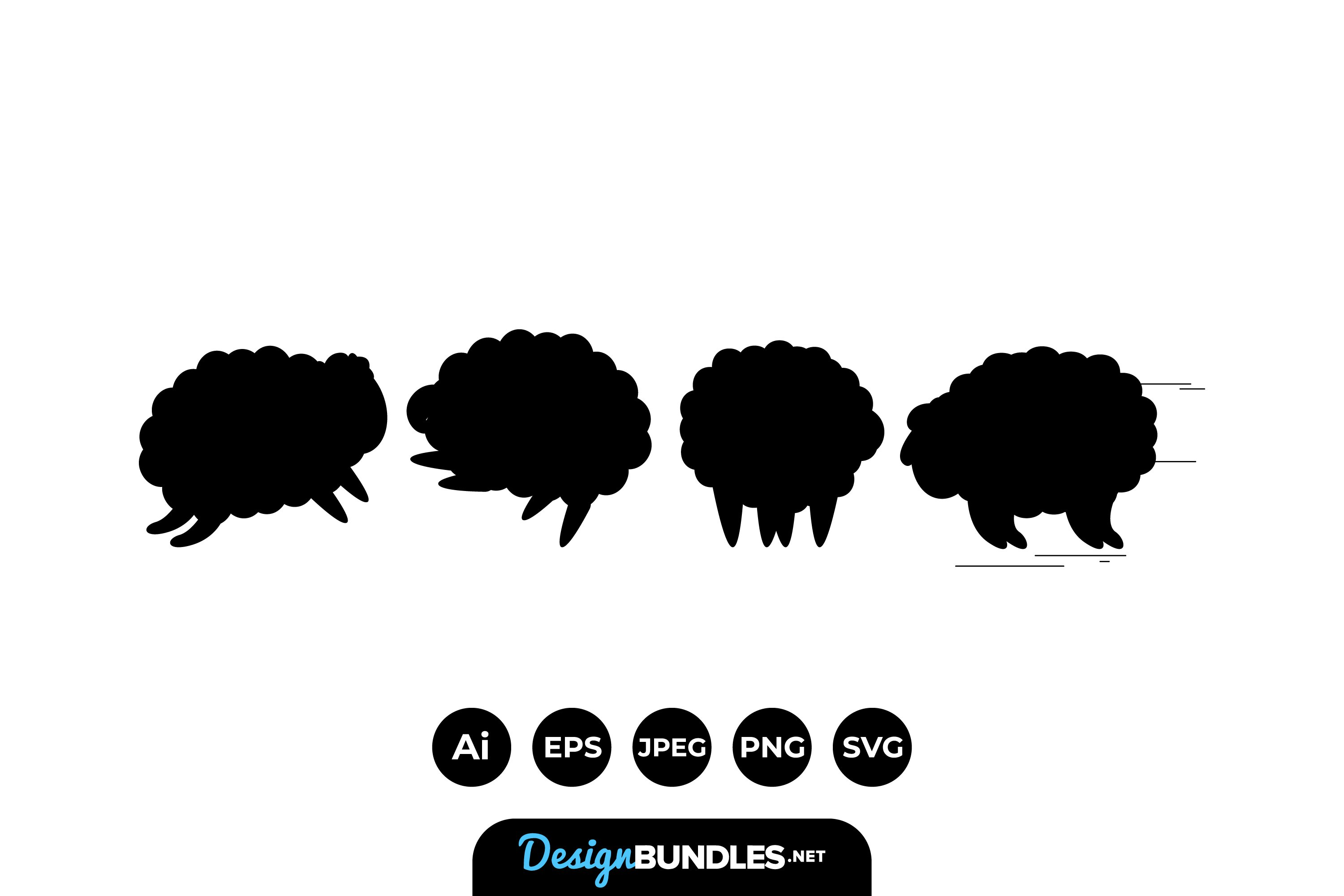 Sheep Silhouettes example image 1