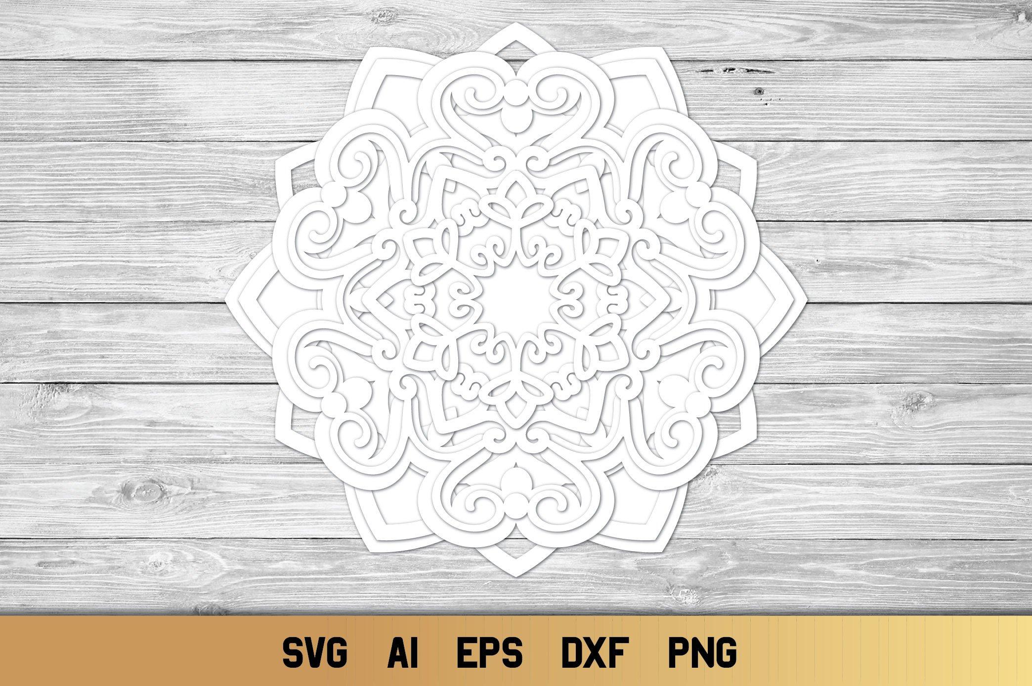 Download 3d Layered Mandala SVG | Multi Layer Snowflake SVG (606791 ...