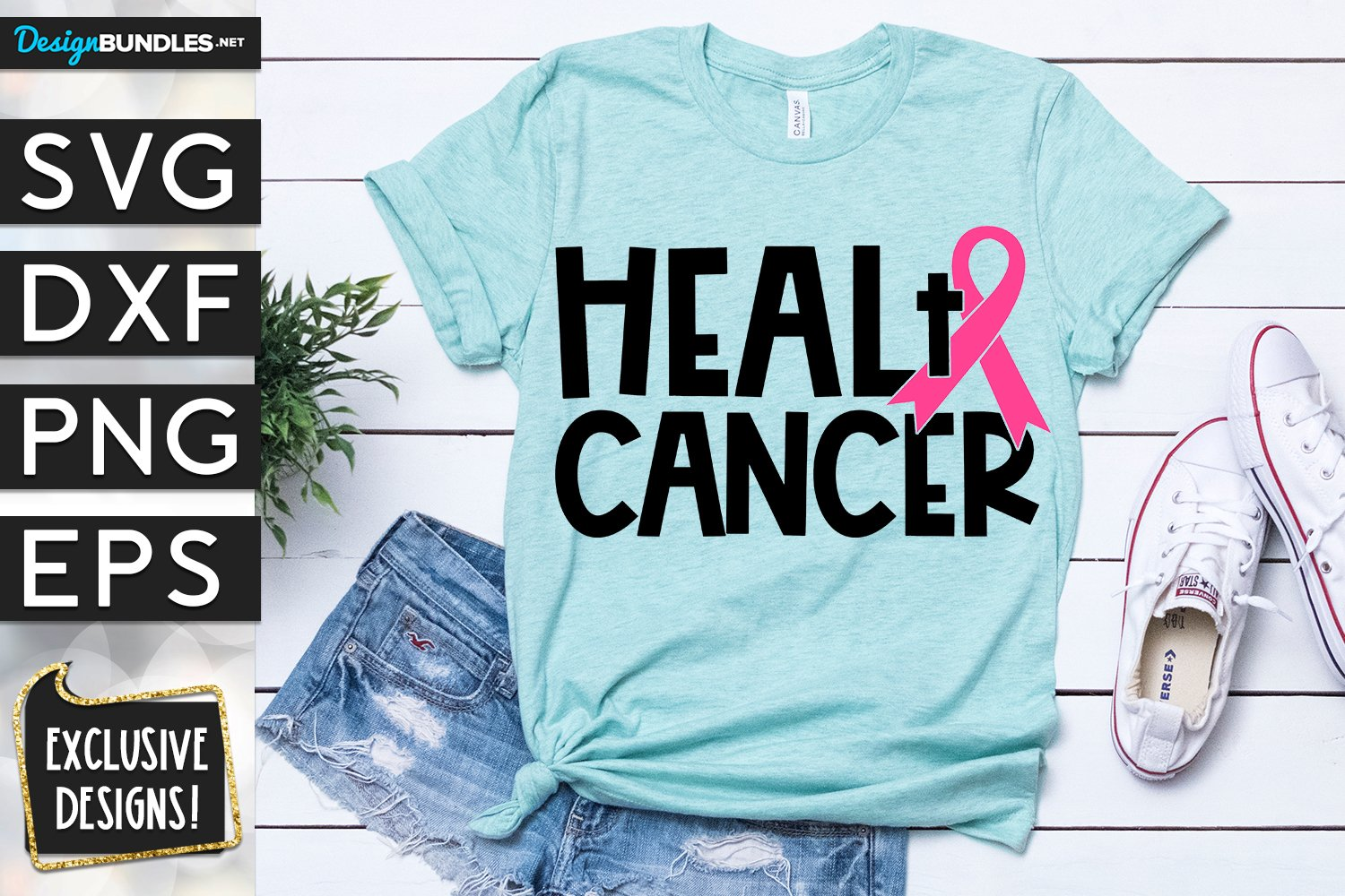 Heal Breast Cancer SVG DXF PNG EPS example image 1