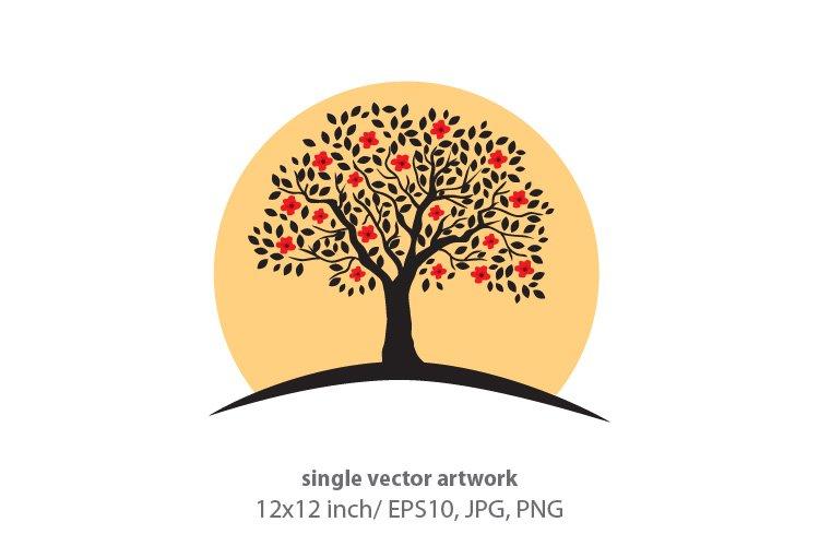BLOOMING TREE - single vector artwork example image 1