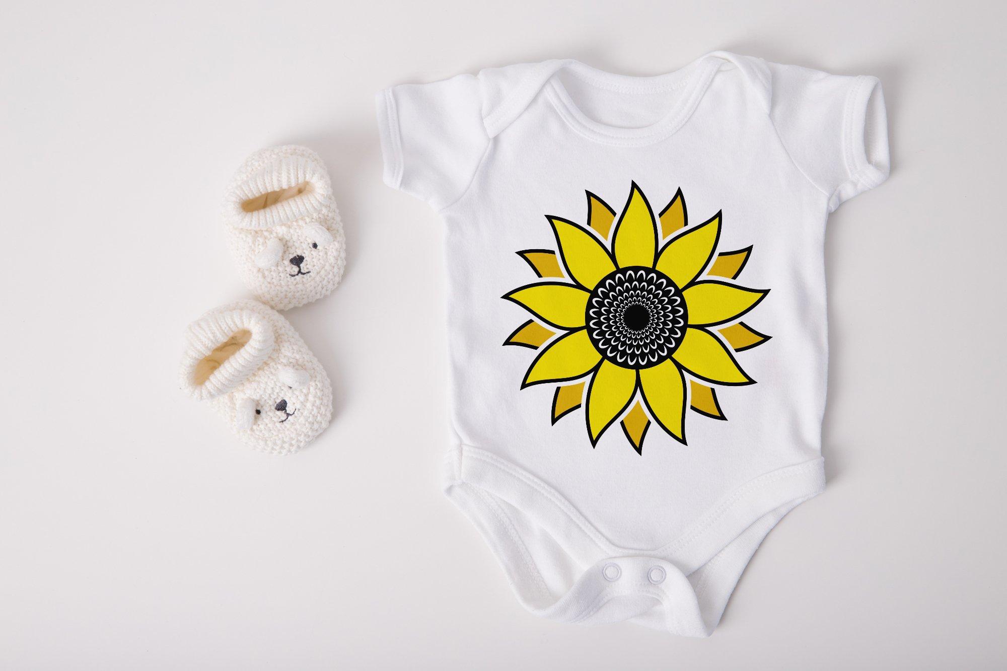 Sunflower SVG, Sunflower Clipart, Sunflower Monogram SVG example image 3