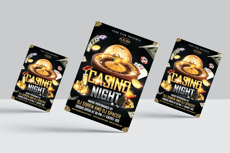 Casino Night Flyer 1 example image 3