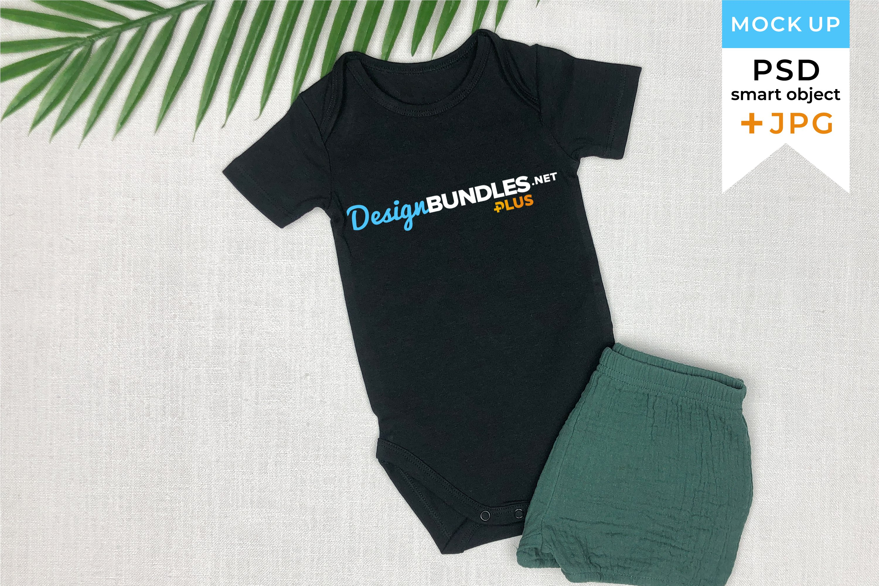 Mockup baby bodysuit JPG and PSD smart object | Baby clothes example image 1