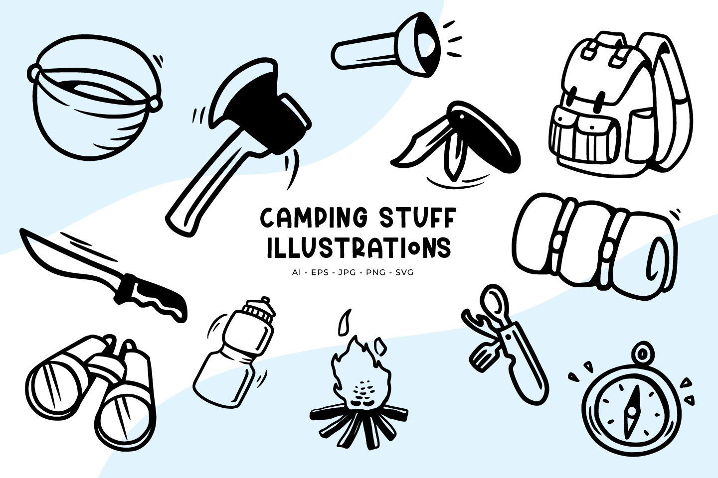 Camping Stuff illustrations example image 1