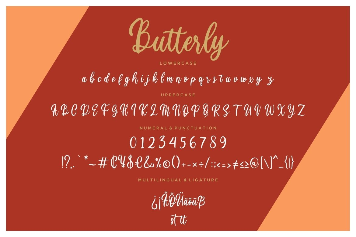 Butterly Calligraphy Script example image 2