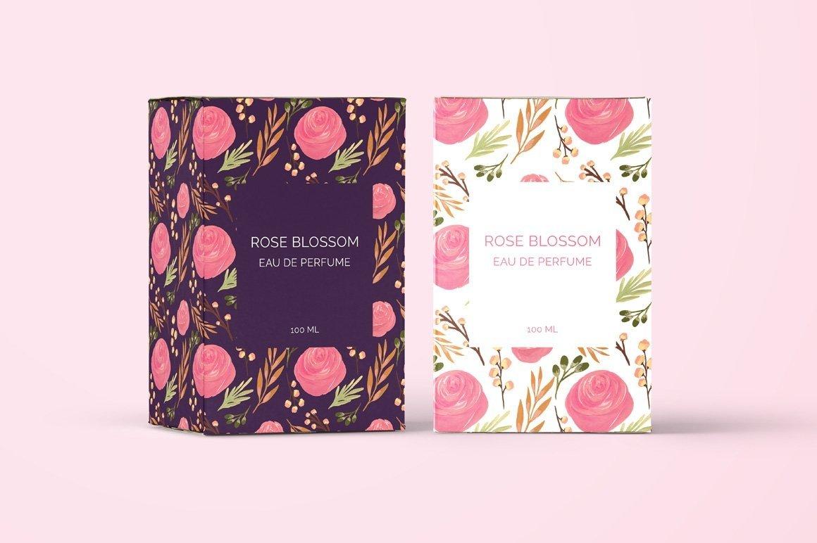 Puspita Gouache Flowers Design Set example image 5
