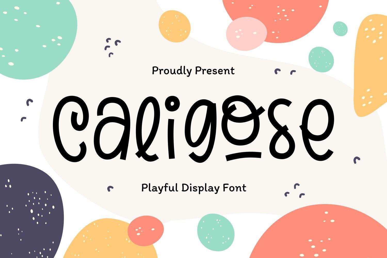 Caligose - Playful Display Font example image 1