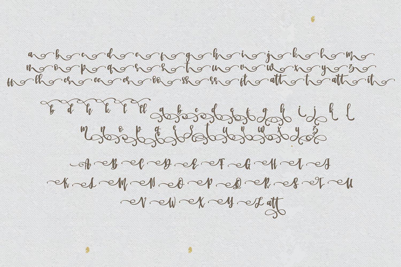 Battic Hand Written Font example image 3