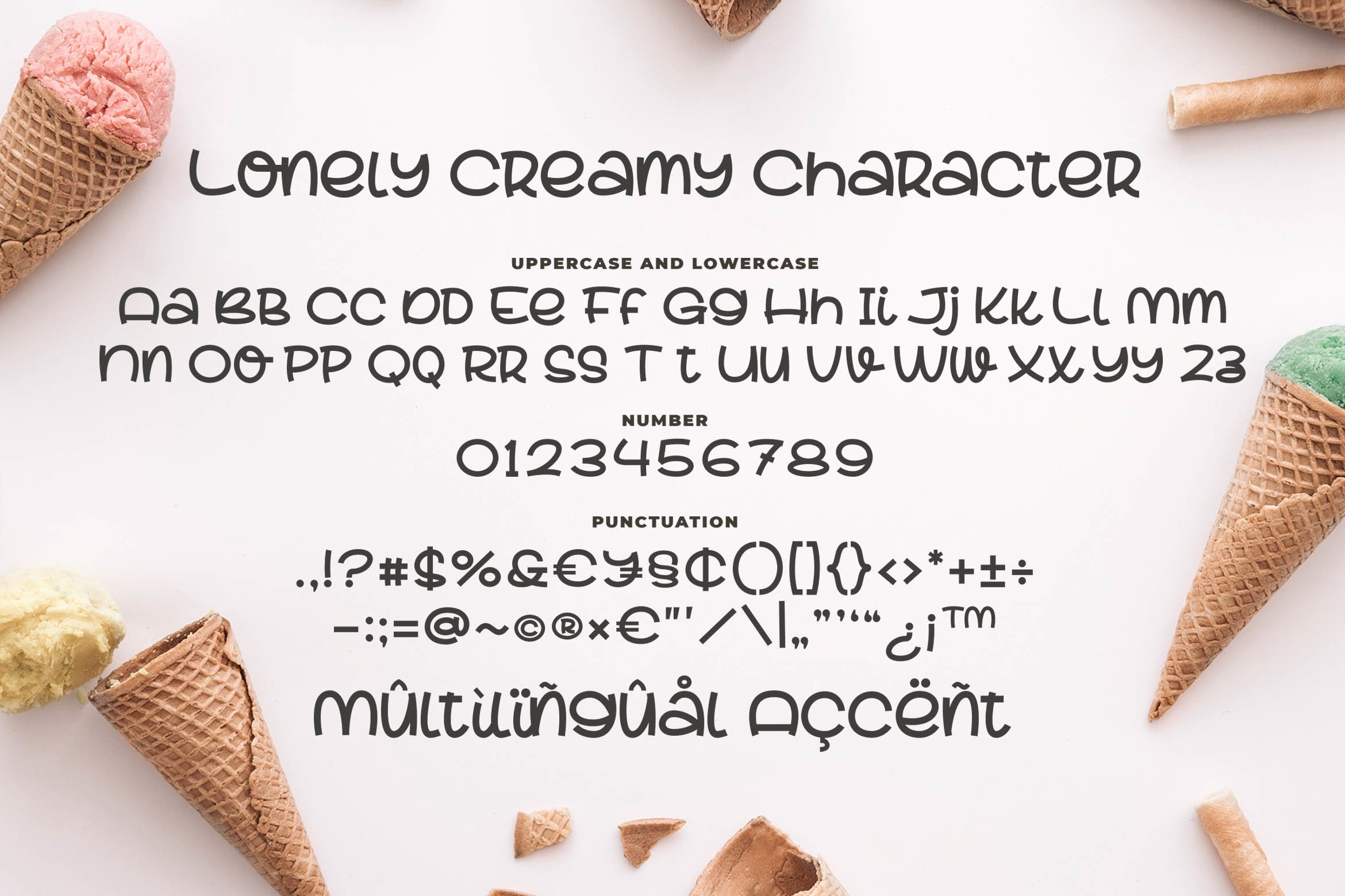 Lovely Creamy a Cute Font example image 6