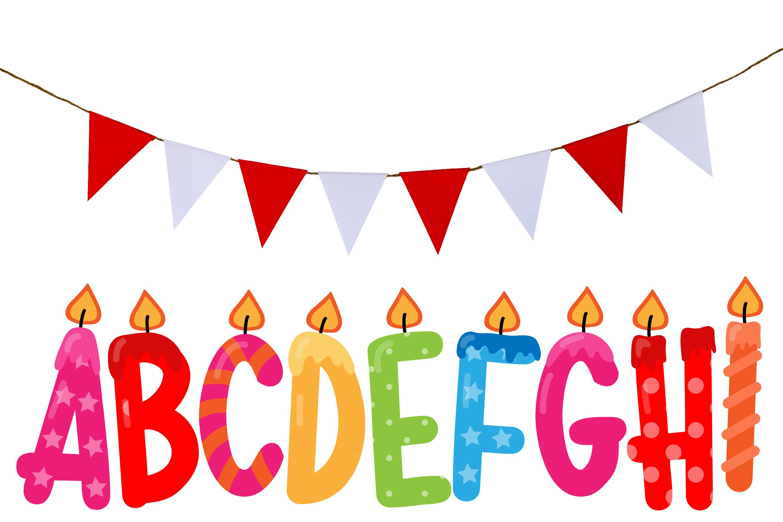 Birthday SVG Font Duo example image 4