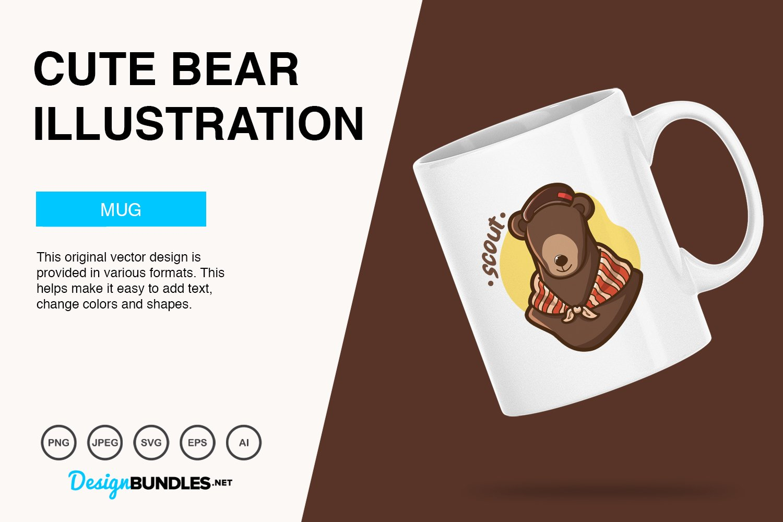 Cute Bear Vector Illustration example image 2