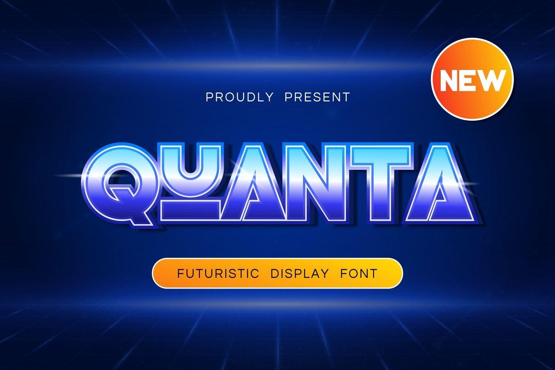 Quanta - Futuristic Playful Font example image 1