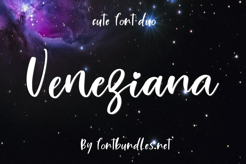 Veneziana Cute Font duo example image 1