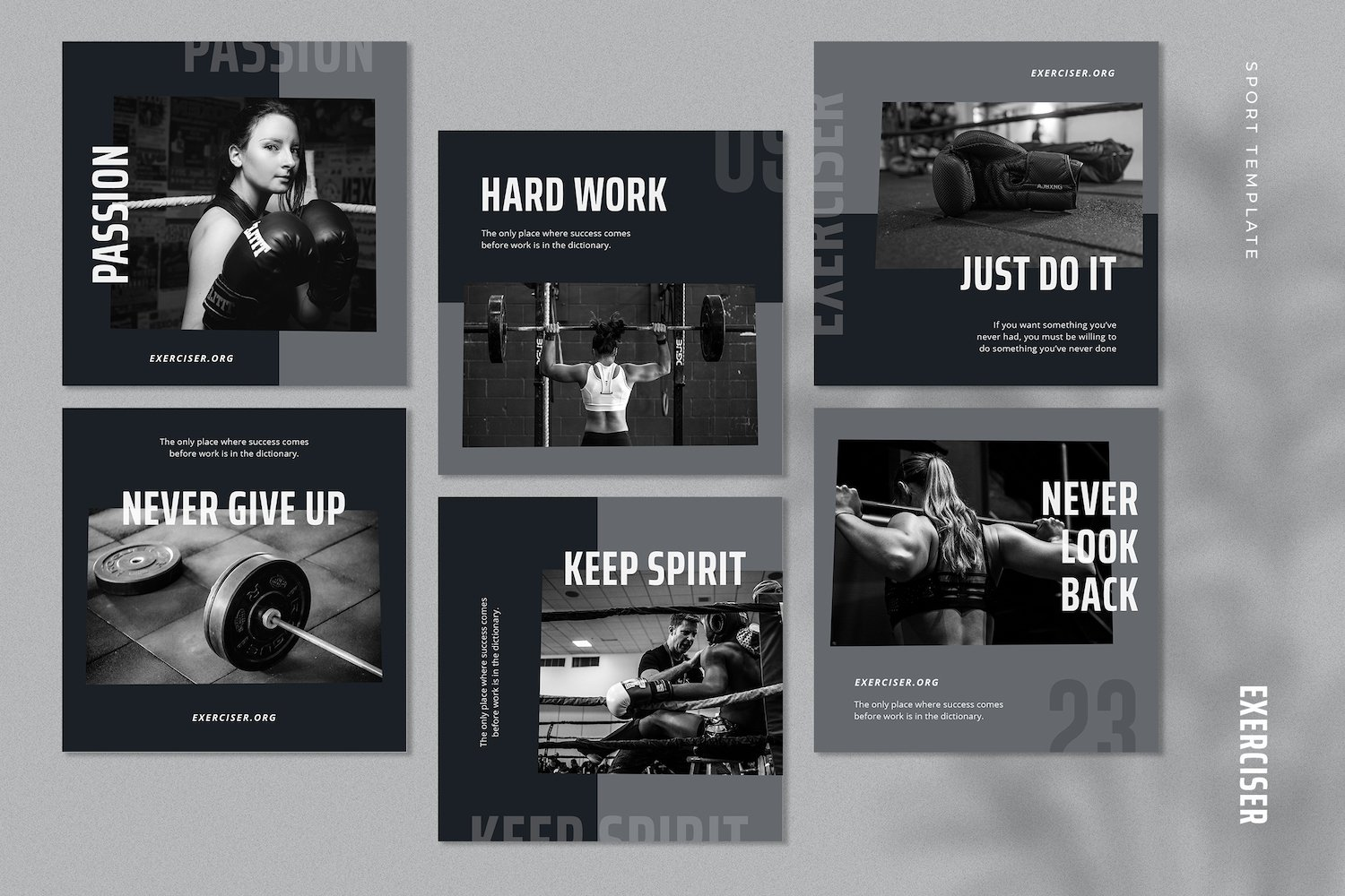 Exerciser - Gym & Fitness Instagram Post Template example image 3