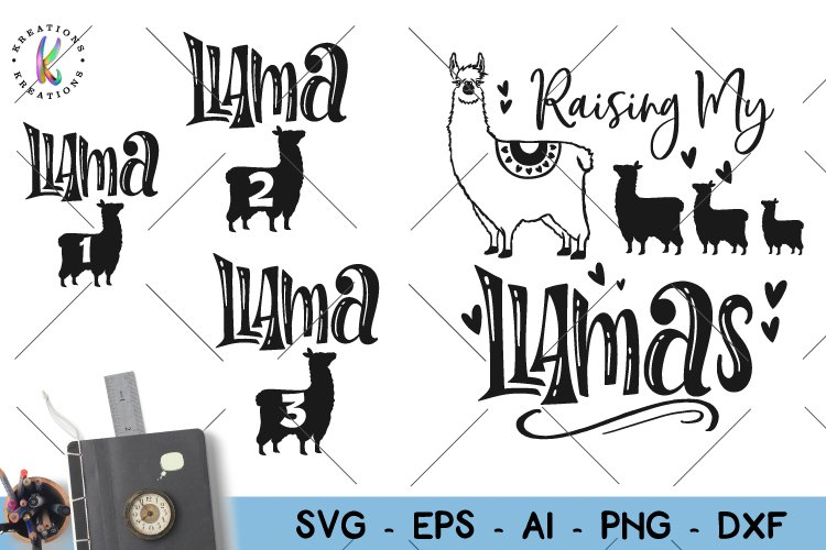 Raising My Llamas Svg Raising My Tribe Svg Mom Svg Kids Svg 126566 Svgs Design Bundles