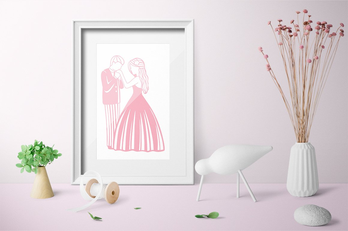 Paper cut / Love / Wedding Illustration / Save the Date example image 3