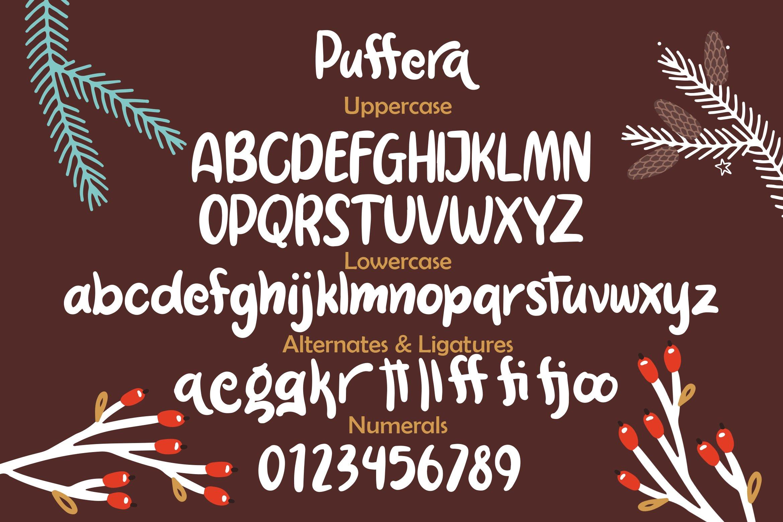 Puffera - Fancy Font example image 6