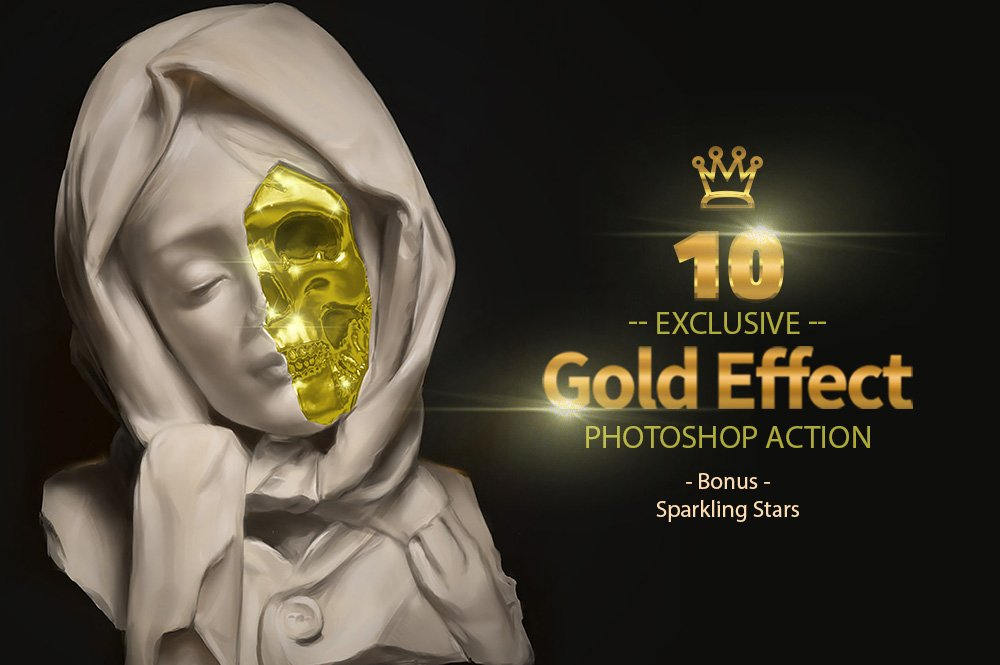 10 Gold & Sparkling Stars example image 7