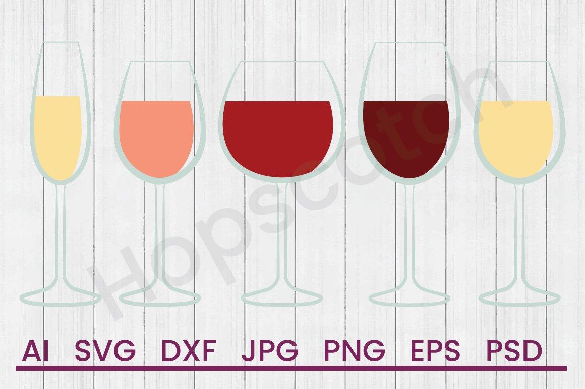 Download Wine Glasses Svg Dxf File Cuttatable File 303672 Svgs Design Bundles