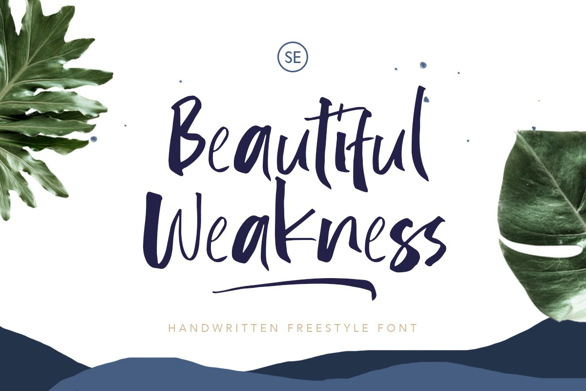 Beautiful Weakness - Handwritten Font example image 1