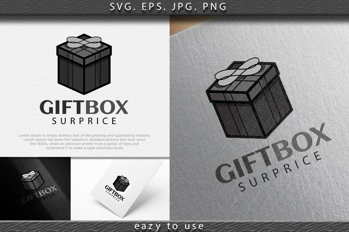 Gift Box Surprise Logo Ideas Inspiration Logo Design Temp 731355 Logos Design Bundles