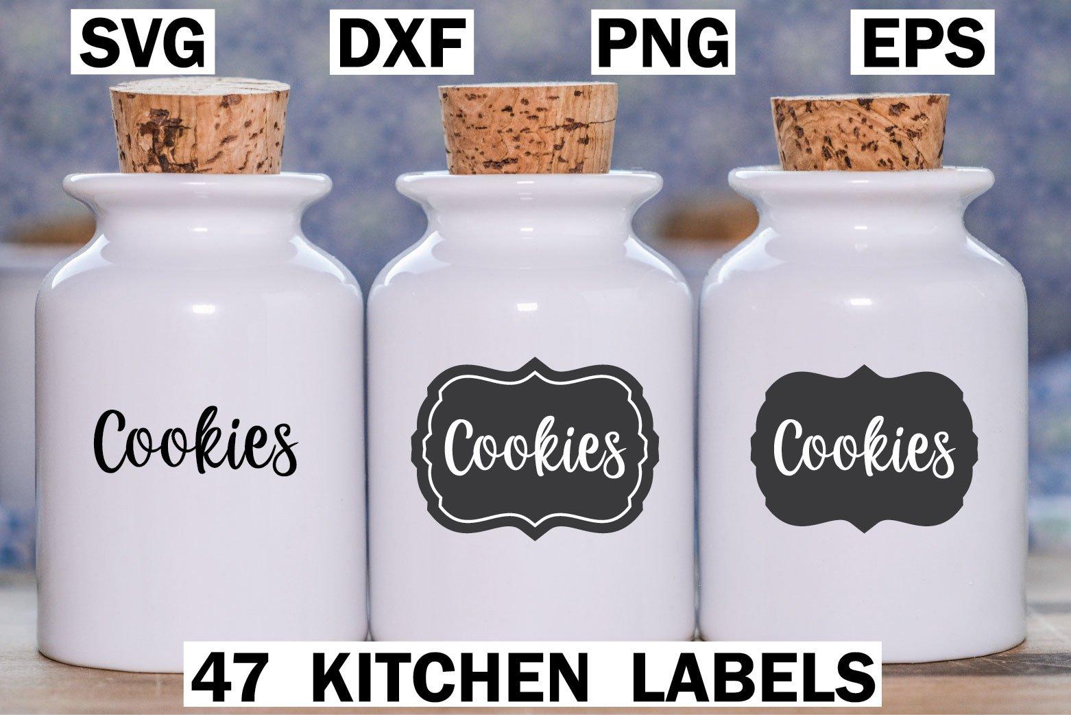 47 Kitchen Labels Bundle SVG example image 1