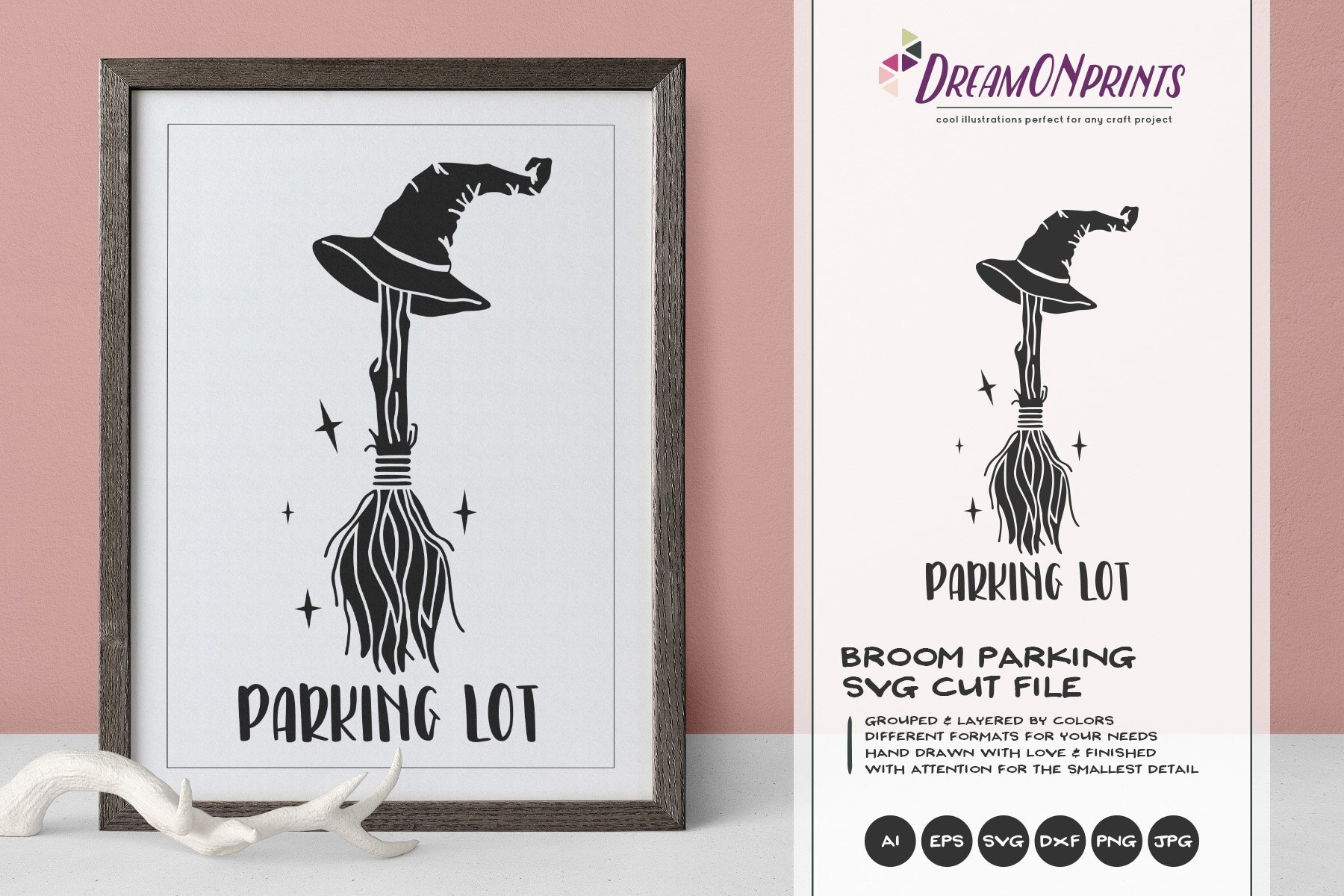 Broom Parking Svg Halloween Svg Witch Broom Svg Cut File 773333 Illustrations Design Bundles